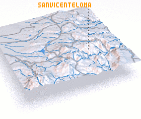 3d view of San Vicenteloma