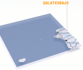 3d view of Galateo Bajo