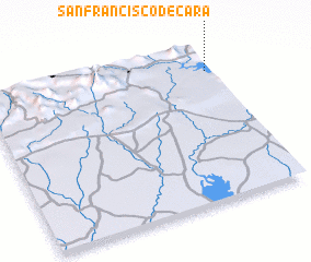 3d view of San Francisco de Cara