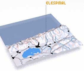 3d view of El Espinal