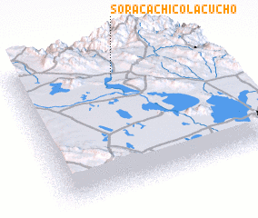 3d view of Soracachi Colacucho
