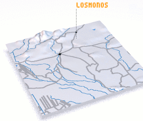 3d view of Los Monos