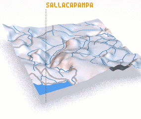 3d view of Sallaca Pampa
