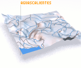 3d view of Aguas Calientes