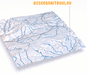 3d view of Asserd n'Aït Boulou