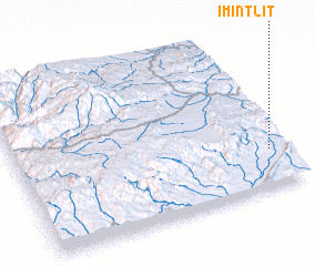 3d view of Imi n'Tlit