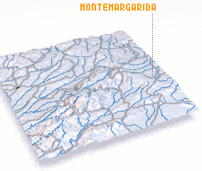 3d view of Monte Margarida