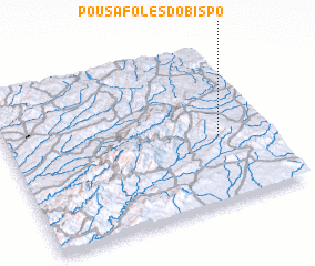 3d view of Pousafoles do Bispo