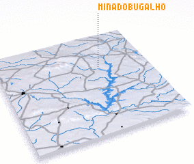 3d view of Mina do Bugalho