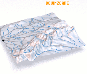 3d view of Bou Imzgane