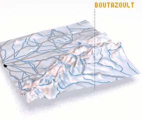 3d view of Bou Tazoult