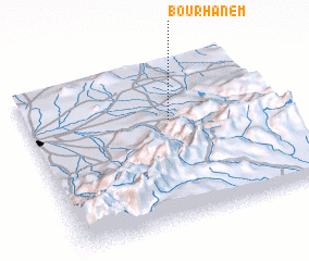 3d view of Bou Rhanem