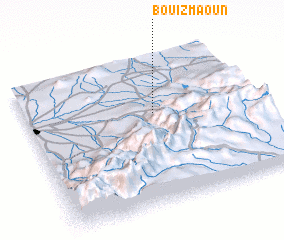 3d view of Bou Izmaoun