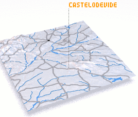 3d view of Castelo de Vide