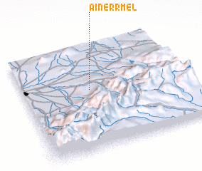 3d view of Aïn er Rmel