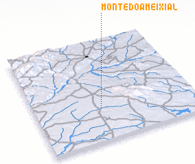 3d view of Monte do Ameixial