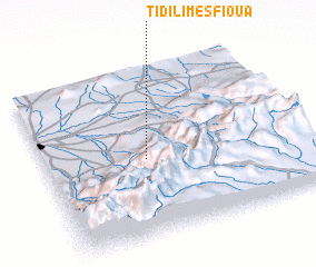 3d view of Tidili Mesfioua