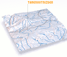 3d view of Tamenout n'Izder