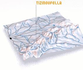 3d view of Tizi n'Oufella