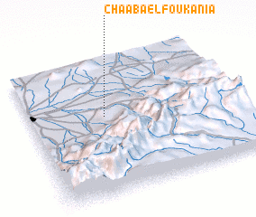 3d view of Chaaba el Foukania
