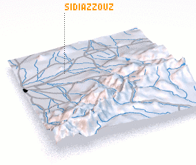 3d view of Sidi Azzouz
