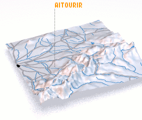 3d view of Aït Ourir