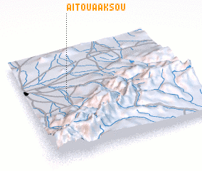 3d view of Aït Ouaaksou
