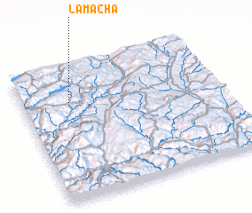 3d view of Lama Chã