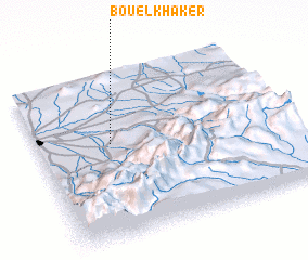 3d view of Bou el Khaker