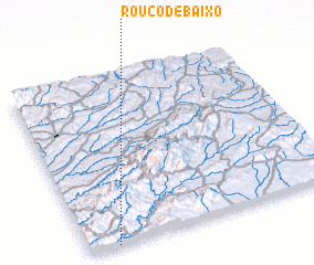 3d view of Rouco de Baixo