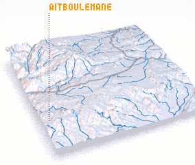 3d view of Aït Boulemane