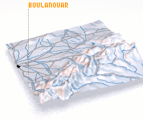 3d view of Bou Lanouar