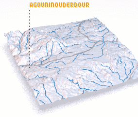3d view of Agouni n' Ouderdour
