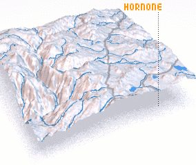 3d view of Hornone