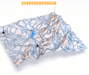 3d view of Quebrada de Agua
