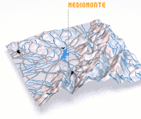 3d view of Medio Monte