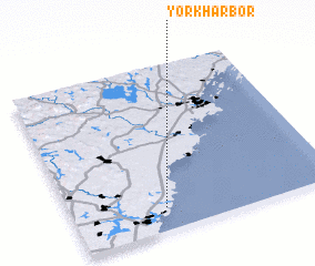 3d view of York Harbor