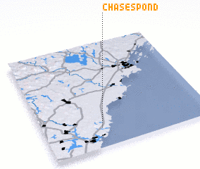 3d view of Chases Pond
