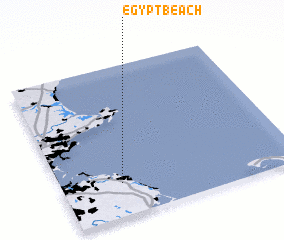 3d view of Egypt Beach