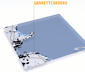 3d view of Gannett Corners