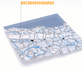3d view of Boca de Río Grande