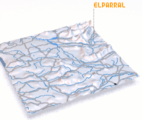 3d view of El Parral