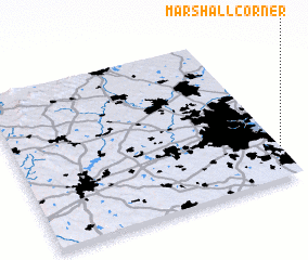 3d view of Marshall Corner