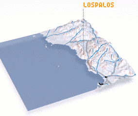 3d view of Los Palos