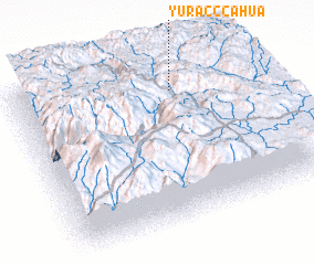 3d view of Yurac Ccahua