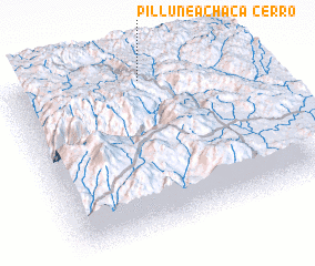 3d view of Cerro Pillune Achaca