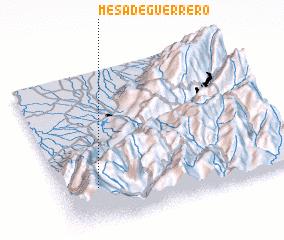 3d view of Mesa de Guerrero