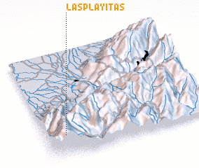 3d view of Las Playitas