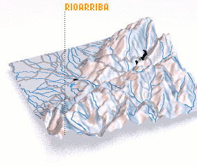 3d view of Río Arriba