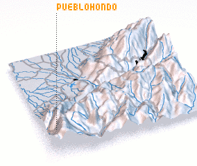 3d view of Pueblo Hondo